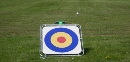 Chipping Target: In action recently at Boston West Golf Club Driving Range
